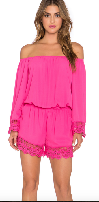 VAVA by Jon Han PIA OFF THE SHOULDER ROMPER
