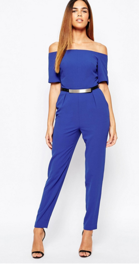 Warehouse Off the Shoulder Jumpsuit