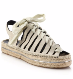 Rebecca Minkoff Gemma Lace-Up Leather Espadrille Sandals