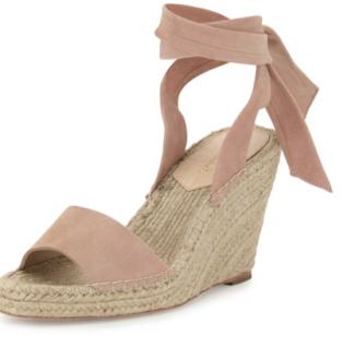 Loeffler Randall Harper Ankle-Wrap Wedge Espadrille Sandal