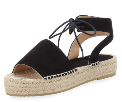 Andrew Assous Samantha Suede Espadrille Sandal
